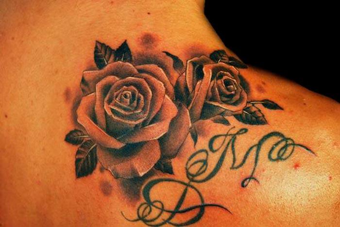 la rosa regina del tatuaggio ideatattoo. Black Bedroom Furniture Sets. Home Design Ideas
