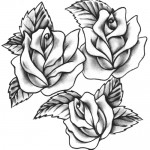 traditional roses tattoo