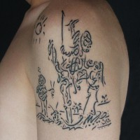 Don Quijote tattoo