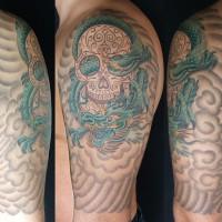 Skull Dragon tattoo