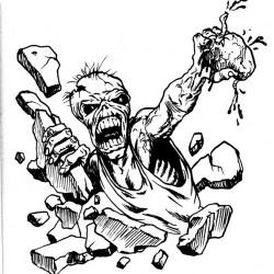 Eddie iron maiden and heart tattoo 250x250 Disegni Tattoo   Horror