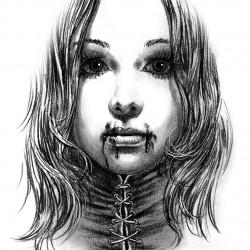 Realistic vampire girl tattoo 250x250 Disegni Tattoo   Horror