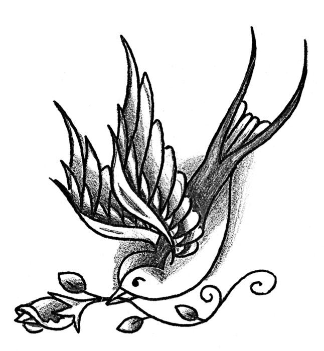 spesso Il tatuaggio della rondine - Gallery Disegni | IdeaTattoo ES99
