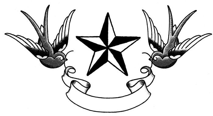 Swallow Tattoo Line Drawing : Disegni tattoo rondini