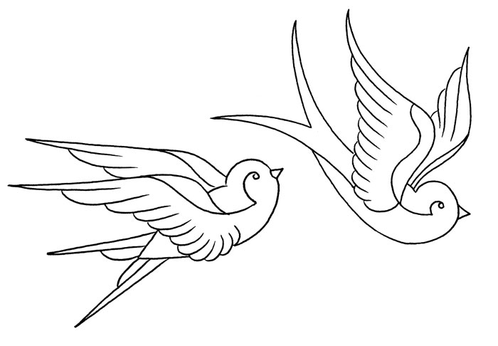 Swallow Tattoo Line Drawing : Swallow tattoos ideatattoo