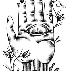 Traditional zombie hand tattoo