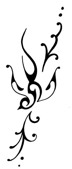 Tribal Swallow Tattoo Hummingbird Stencil