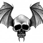 Vampire skull tattoo