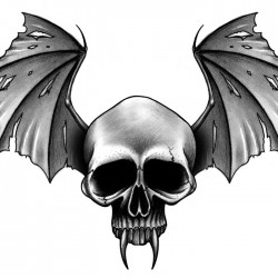 Vampire skull tattoo 250x250 Disegni Tattoo   Horror