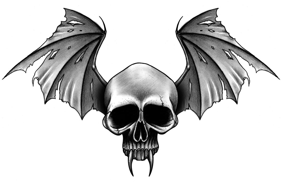 Disegni tattoo horror for Vampire skull tattoo