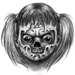 skull girl tattoo 250x250 Disegni Tattoo   Horror