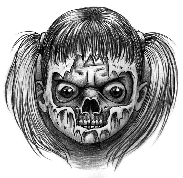 zombie e horror tattoo gallery disegni