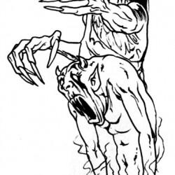 zombie and devil tattoo 250x250 Disegni Tattoo   Horror