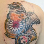 bird matryoshka tattoo