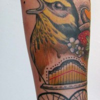 bird strawberry 1 tattoo 200x200 Tattoo Artist Gallery: Jessica Mach