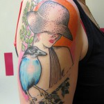 bird woman tattoo