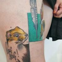 ferret tattoo 200x200 Tattoo Artist Gallery: Jessica Mach