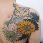 owls tattoo