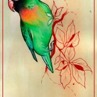 parrot painting 200x200 Tattoo Artist Gallery: Jessica Mach