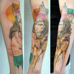 woman fawn tattoo 150x150 Tattoo Artist gallery: Jessica Mach