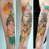 woman fawn tattoo 200x200 Tattoo Artist Gallery: Jessica Mach