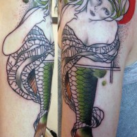 woman fish tattoo 200x200 Tattoo Artist Gallery: Jessica Mach