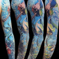 sea tattoo 200x200 Tattoo Artist Gallery: Michele Turco