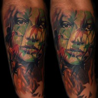 woman leaves tattoo 200x200 Tattoo Artist Gallery: Michele Turco