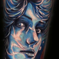 women blue tattoo 200x200 Tattoo Artist Gallery: Michele Turco