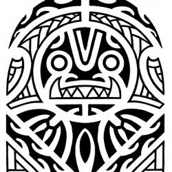 Maori and Polynesian tiki half sleeve tattoo 250x250 Disegni tattoo   Maori