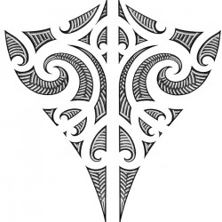 Maori style back tattoo