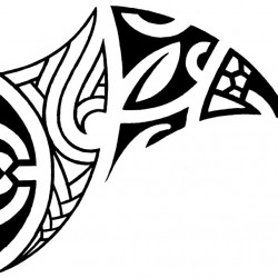 Maori style collar tattoo