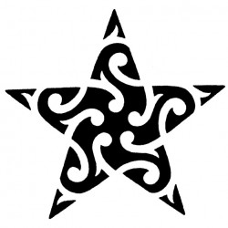 Maori style star tattoo 250x250 Drawings Tattoo