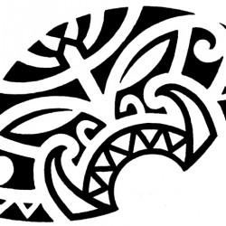Maori tiki tattoo for chest 250x250 Disegni tattoo   Maori