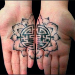 Decoration Tattoo - Oriental Flower