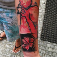 flower woman tattoo 200x200 Tattoo Artist Gallery: Ondrash