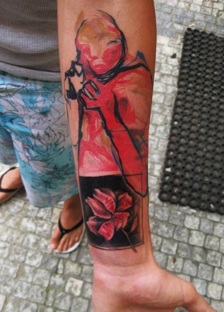 flower woman tattoo 460x640 flower woman tattoo