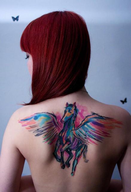 pegasus tattoo 438x640 pegasus tattoo