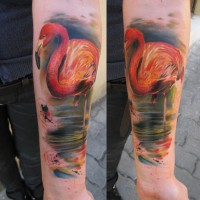 pink flamingo2 tattoo 200x200 Tattoo Artist Gallery: Ondrash