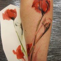 poppy tattoo 200x200 Tattoo Artist Gallery: Ondrash