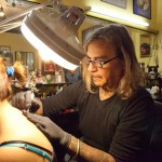 butterfly tattoo Leoni at work 150x150 Tattoo artist interview with Marco Leoni