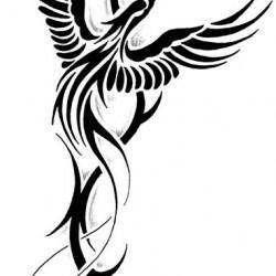fenice tattoo tribale