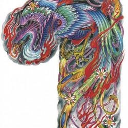 fenice tattoo braccio