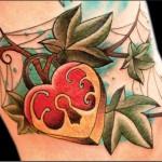 Keys and padlocks, love tattoos