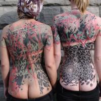 big back piece tattoos