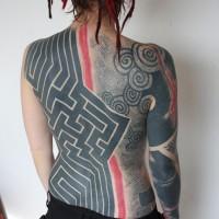 Marc Little Swastika tattoo