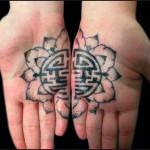 decoration tattoo frower 150x150 Decoration Tattoo   Oriental Flower