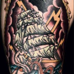 Old school tattoo - sailors' tattoos