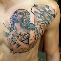 angel lettering tattoo 200x200 Tattoo Artist Gallery: Marie Kraus