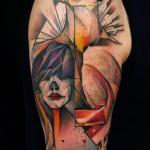 faces tattoo 150x150 Tattoo artist gallery: Marie Kraus